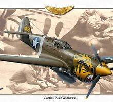 Curtiss P-40 'Warhawk' - Aleutian Tigers by A. Hermann