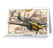 Curtiss P-40 'Warhawk' - Aleutian Tigers Greeting Card