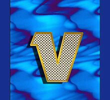 Monogram V personalized gift for him by Monartcanadian