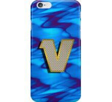Monogram V personalized gift for him iPhone Case/Skin