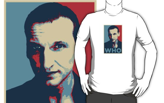 Doctor Who Chris Eccleston Barack Obama Hope style poster by unloveablesteve