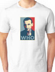 Doctor Who Chris Eccleston Barack Obama Hope style poster Unisex T-Shirt