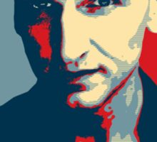 Doctor Who Chris Eccleston Barack Obama Hope style poster Sticker