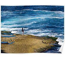 Rock fishing Poster