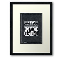 Typography Poster by Matt Edson Framed Print