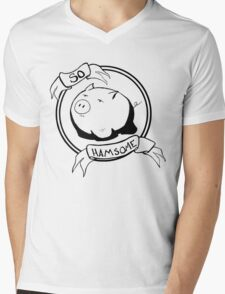 So HAMsome - Black Mens V-Neck T-Shirt