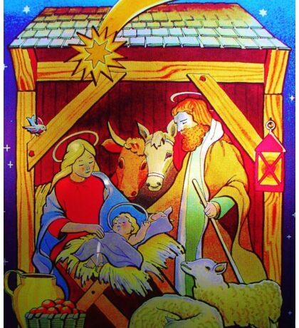 Nativity Candle Votive Sticker