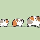 Mother Guinea-pig with Babies by Zoe Lathey