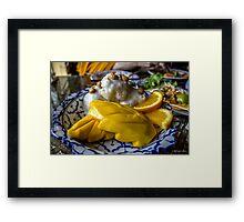 Mangos and Sticky Rice Framed Print