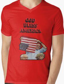 God Bless America Mens V-Neck T-Shirt