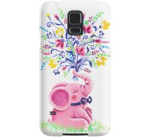 Spring Bouquet - Rondy the Elephant holding beautiful flowers Samsung Galaxy Case/Skin