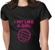 I Hit Like A Girl - Volleyball Tee Womens Fitted T-Shirt
