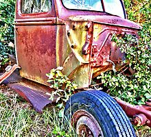 HDR Rusty old Ford by GWGantt