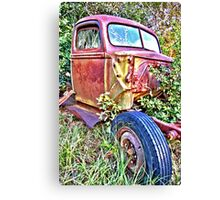 HDR Rusty old Ford Canvas Print