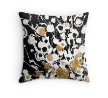 Abstract Flora Fluff Throw Pillow
