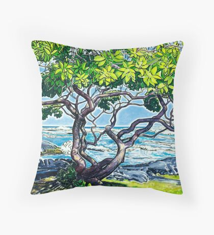 Honu'apo Heliotrope Throw Pillow