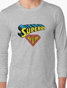 SuperPi Hero, Math Nerd Humor Long Sleeve T-Shirt