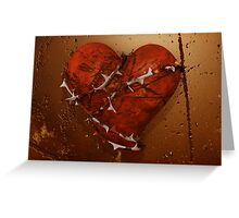 Love Hurts - Heart and Thorns Greeting Card