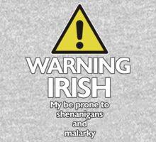 Warning Irish prone to shenanigans and malarky Kids Clothes