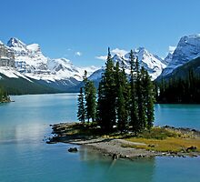 Spirit Island in Maligne Lake, B.C. by AngelRays