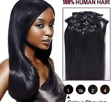 40 inch 7pcs Straight Clip In Human Hair Extensions CLIP85 by Charliepewonka