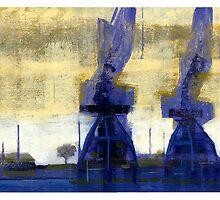 morning cranes by David  Kennett