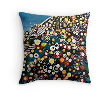 Abstract of Sydney Harbor Throw Pillow