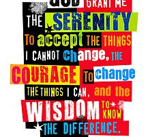 Serenity Prayer Original Graphic design by DKMurphy