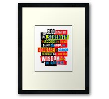 Serenity Prayer Original Graphic design Framed Print