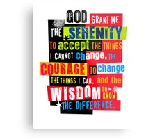 Serenity Prayer Original Graphic design Metal Print