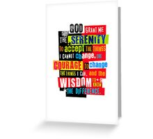 Serenity Prayer Original Graphic design Greeting Card
