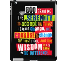 Serenity Prayer Original Graphic design iPad Case/Skin