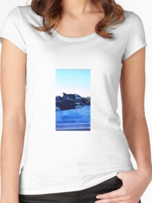 Daddy,Mommy & Baby Orca's Women's Fitted Scoop T-Shirt