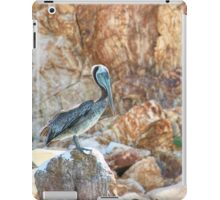 Lonely wild brown pelican HDR iPad Case/Skin