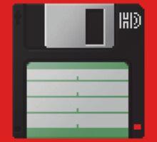 3.5 Inch Floppy Disk - Black by Conor O'Kane