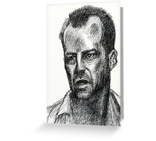 Bruce Willis In Die Hard  Greeting Card