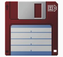 3.5 Inch Floppy Disk - Red by Conor O'Kane
