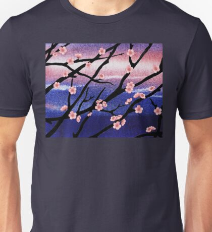 Cherry Blossoms Decorative Painting Unisex T-Shirt
