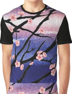 Cherry Blossoms Decorative Painting Graphic T-Shirt