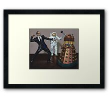 A Matrix of Daleks Framed Print