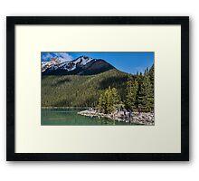 Admiring Lake Louise, Alberta, Canada Framed Print