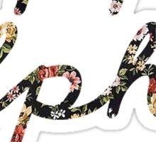 Kappa Alpha Theta Flowers Sticker