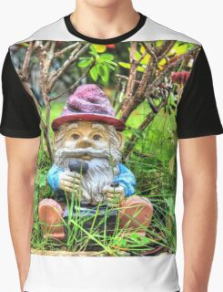 Funny garden gnome HDR Graphic T-Shirt