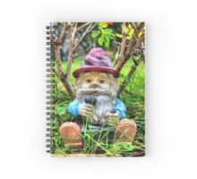 Funny garden gnome HDR Spiral Notebook