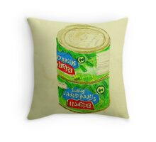 sliced green beans Throw Pillow