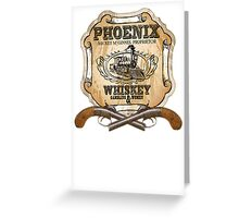 Hell on Wheels Inspired - Phoenix Saloon - Mickey McGinnes - Bohannon - Union Pacific Railroad - 1866 Nebraska - AMC Hell On Wheels Greeting Card