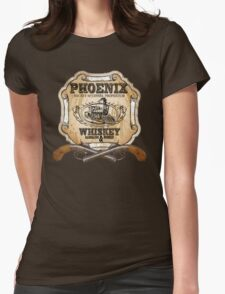 Hell on Wheels Inspired - Phoenix Saloon - Mickey McGinnes - Bohannon - Union Pacific Railroad - 1866 Nebraska - AMC Hell On Wheels Womens Fitted T-Shirt