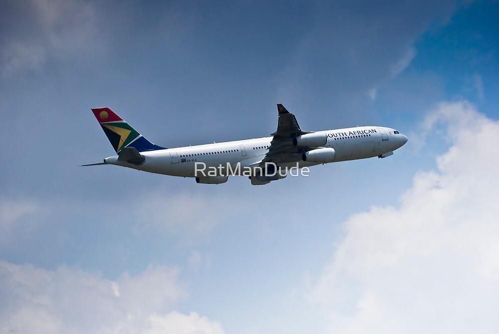 Airbus A340-211 - ZS-SLA by RatManDude