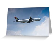 Airbus A340-211 - ZS-SLA Greeting Card
