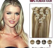 Hot Sale 12/613 7pcs 20 Inch Clip In Human Hair Extensions In Stock by tiffanywuok1
